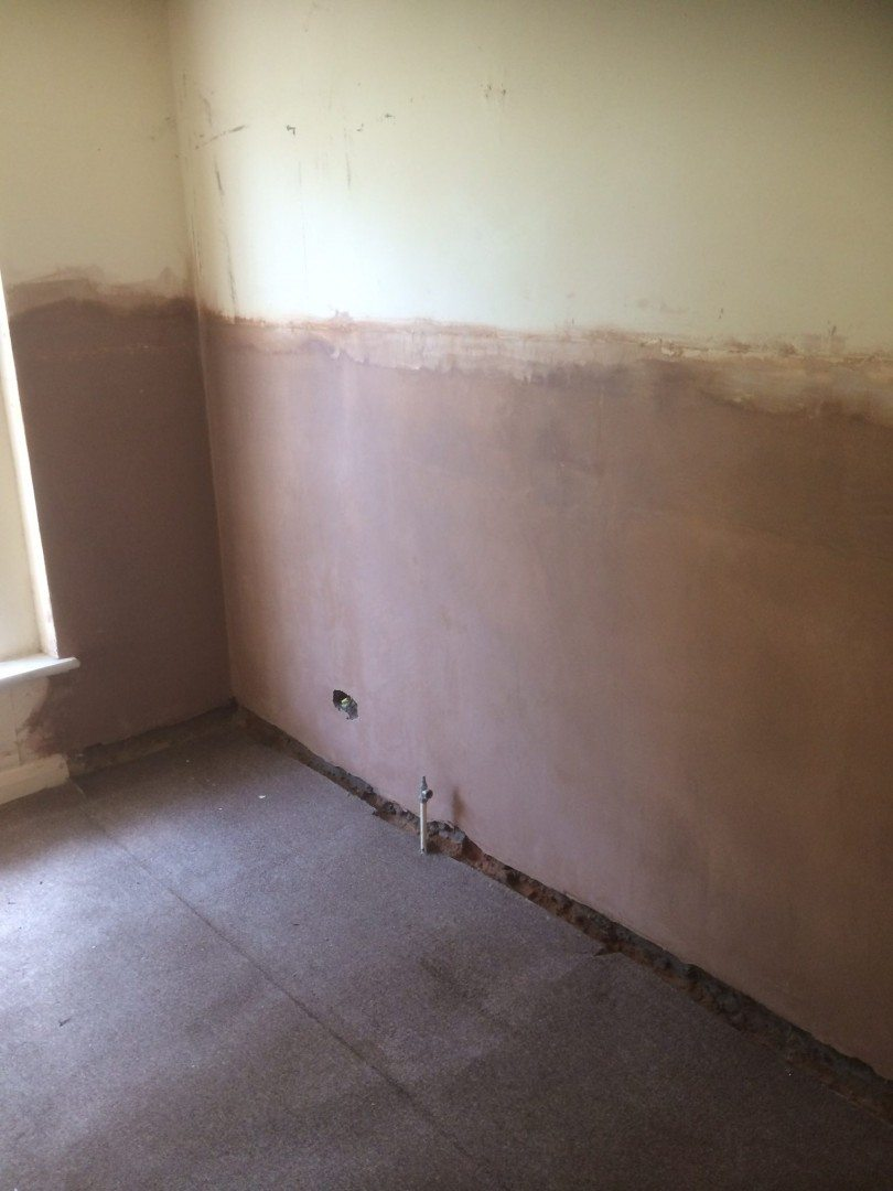 completed damp proofing